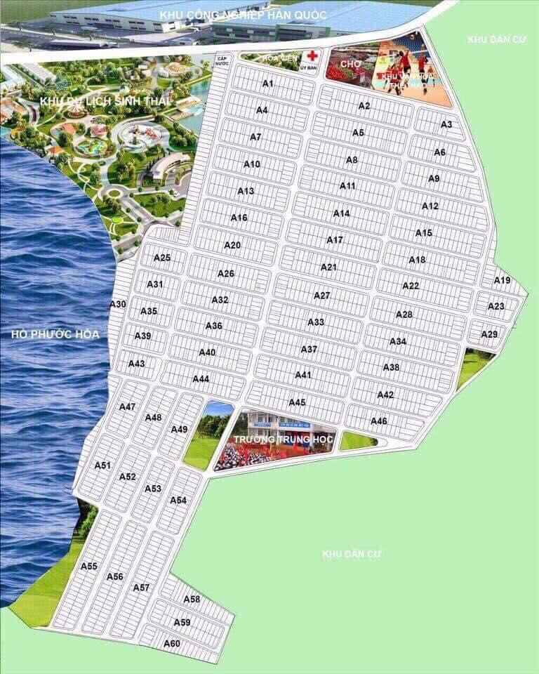 bản đồ dự án ấp 6 xã nha bích