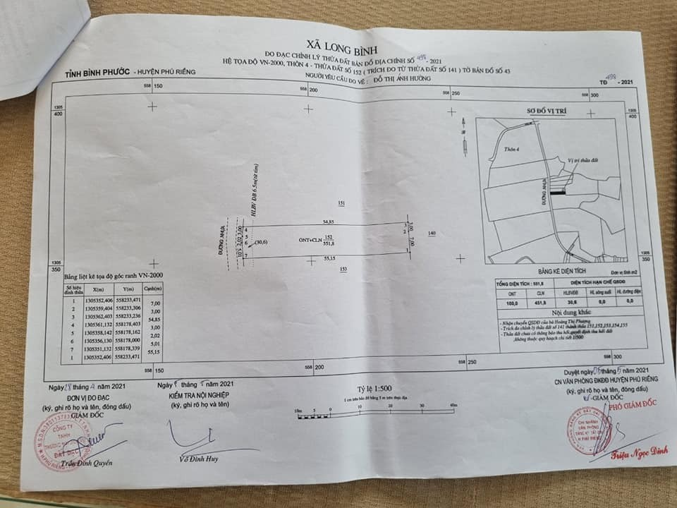 bán đất tại xã Long Bình huyện Phú Riềng tỉnh Bình Phước.