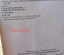 Sổ Hồng Lô I45 Mỹ Phước 3